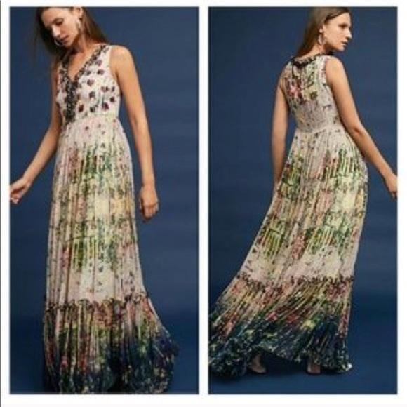 f2283da4fb13b Anthropologie Dresses   Anthro Cydney Tiered Maxi Dress Sz 10 By ...